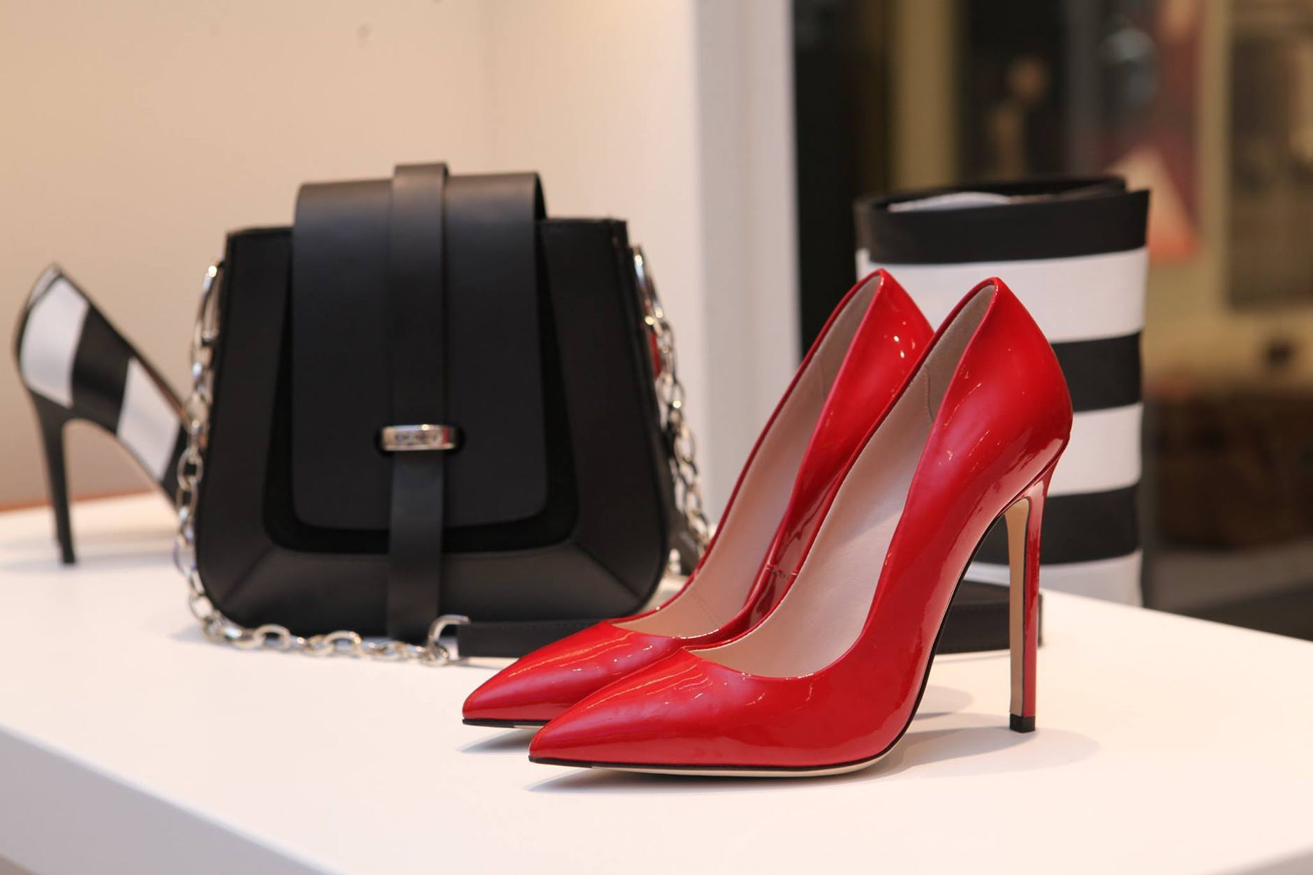 close up of shoes and bag